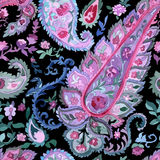 Watercolor paisley seamless pattern Royalty Free Stock Photo
