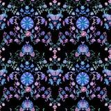 Watercolor paisley seamless pattern Stock Photos