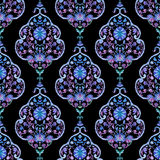 Watercolor paisley seamless pattern Stock Image