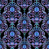 Watercolor paisley seamless pattern Royalty Free Stock Photography