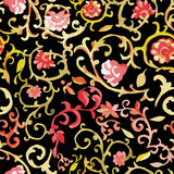 Watercolor paisley seamless pattern Stock Photography