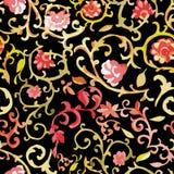 Watercolor paisley seamless pattern Stock Photography
