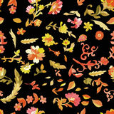 Watercolor paisley seamless pattern Royalty Free Stock Images