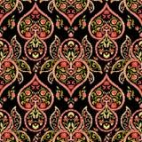 Watercolor paisley seamless pattern Royalty Free Stock Photo