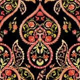 Watercolor paisley seamless pattern Stock Photo
