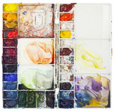 Watercolor Palette Royalty Free Stock Image