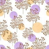 Watercolor palette seamless pattern with flower. Brunch hand drawn art illustration Stock Photo
