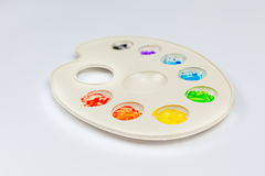 Watercolor palette on white background Stock Image
