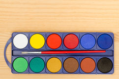 Watercolor palette Royalty Free Stock Images