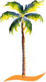Watercolor Palm tree Royalty Free Stock Photos
