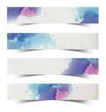 Watercolor paper stick Stock Photo