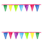 Watercolor party bunting Royalty Free Stock Photo