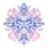 Watercolor pastel colored crystals Royalty Free Stock Photos