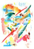Watercolor pattern. stock image