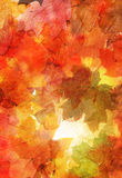 Watercolor pattern with autumn leaves Royalty Free Stock Photos