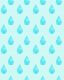 Watercolor pattern with a blue drop of water. Stock Photos