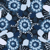Watercolor pattern in dark colors Royalty Free Stock Photo