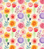 Watercolor pattern with flowers Royalty Free Stock Images