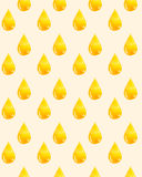 Watercolor pattern with a golden drop of oil. Royalty Free Stock Photos