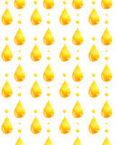 Watercolor pattern with a golden drop of oil. Stock Image