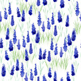 Watercolor pattern with Lavender Stock Images