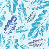 Watercolor pattern of leaves seamless texture background. Crazy beautiful imprint watercolor pattern of leaves. handmade painted. beautiful seamless texture Stock Images