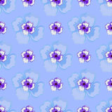 Watercolor Pattern. Pattern made from big and small watercolor violet flowers on the purple background Royalty Free Stock Photo