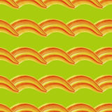 Watercolor-10. Watercolor pattern made from orange waves. Vector illustration Stock Photo
