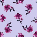 Watercolor-02. Watercolor pattern made from pink flowers. Vector illustration Royalty Free Stock Photos