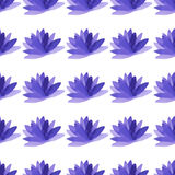 Watercolor-09. Watercolor pattern made from violet flowers. Vector illustration Stock Images