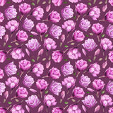 Watercolor pattern of magnolia Stock Images
