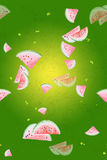 Watercolor pattern with watermelon stock illustration