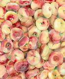Watercolor peaches. Watercolor painting. Pink peaches background stock illustration