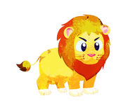 Watercolor peacok lion isolated on white background Stock Photo