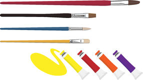 Watercolor pen Stock Photo