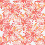 Watercolor peony pattern Royalty Free Stock Image