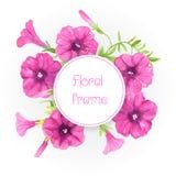 Watercolor petunias. Royalty Free Stock Photography