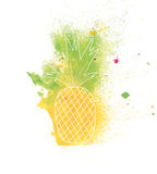 Watercolor pineapple Royalty Free Stock Image
