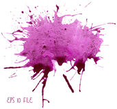 Watercolor Pink Blot Royalty Free Stock Images