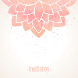 Watercolor pink floral background Stock Photo