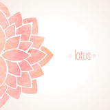 Watercolor pink floral background Stock Photos
