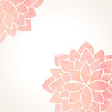 Watercolor pink floral background Stock Photography