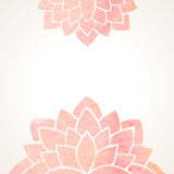 Watercolor pink floral background Royalty Free Stock Images