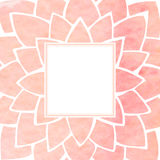 Watercolor pink floral frame. Vector illustration Royalty Free Stock Photos