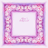 Watercolor Pink Flower Royalty Free Stock Photo