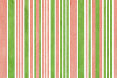 Watercolor pink and green striped background. Royalty Free Stock Photos