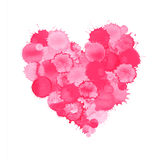 Watercolor pink heart. Illustration. Heart watercolor drawing Royalty Free Illustration