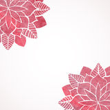 Watercolor pink lace floral patterns on white background. Vector Royalty Free Stock Photos