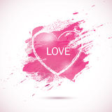 Watercolor-pink-love. Vector pink watercolor background. Colorful abstract texture. Vector design elements. Vintage background. Vector watercolor splash. Love Vector Illustration