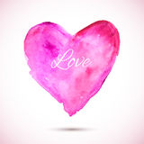 Watercolor-pink-love Stock Photos